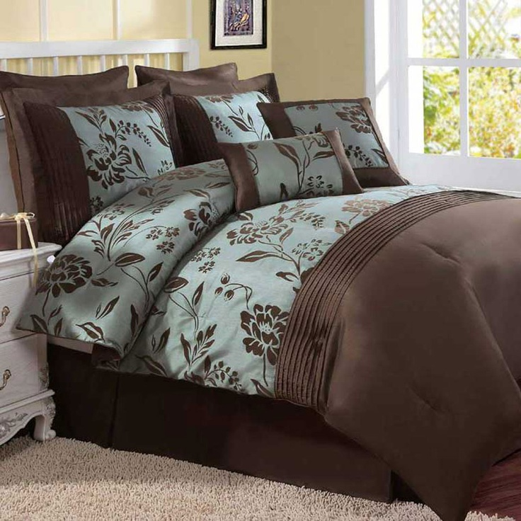 44 Best Brown And Blue Bedding Images On Pinterest Blue