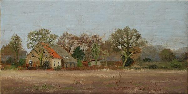 Boerderij De Luijenbergh (30 x 60 cm) by Gineke Zikken