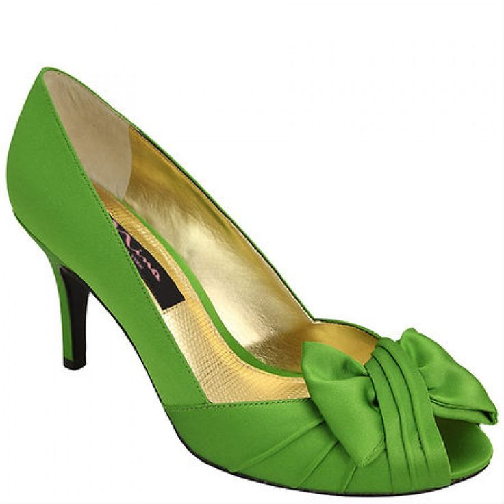 Apple Green Forbes By Nina Evening Shoes BellissimaBridalShoes The