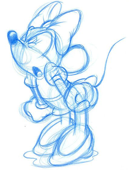 Minnie Mouse yells