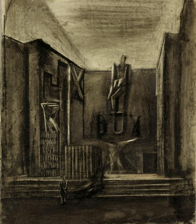 Bozzetto per la Sala R o Salone d'Onore della Mostra della Rivoluzione fascista (1931-32) Mario Sironi