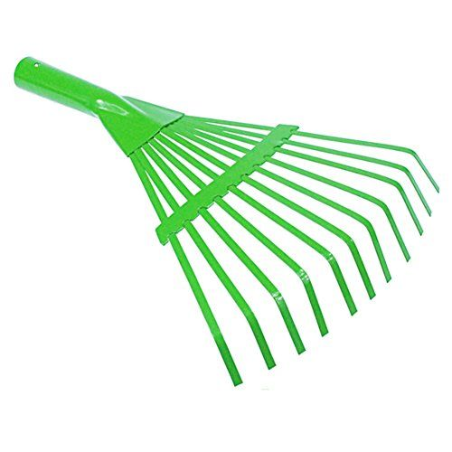 """Kids Helper 11 Tine Small Shrub Rake For Children Head Only 8.26"""" Green  Material: Steel Head Only  Green Power Coating, Prevent Rust  Size: 8.26*12.2""""  Useful rake in small places; Suit for adults and kids  Money back guarantee: if you purchase them and don't agree, we'll refund your order no questions asked"""