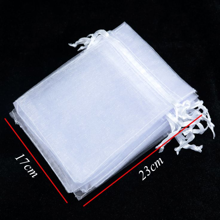Wholesale 100pcs High Quality 17x23cm Large Organza Bag White Color Wedding Gift Candy Bags Jewelry Package Pouch