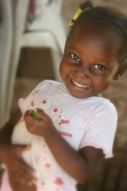 pretty smiling little girl from Surinam. South America