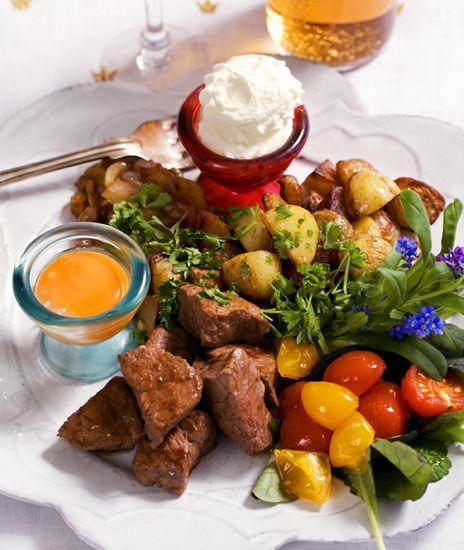 Biff Rydberg med pepparrotscrème | Recept från Köket.se
