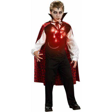 Lite-Up Vampire Boys' Child Halloween Costume, Boy's, Size: Medium (8-10), Multicolor