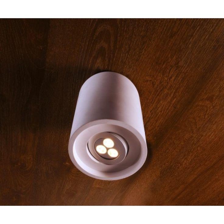 Berstreichbarer Gipsspot Caja II Rund Berstreichbar Gisp Deckenleuchte Deckenlampe