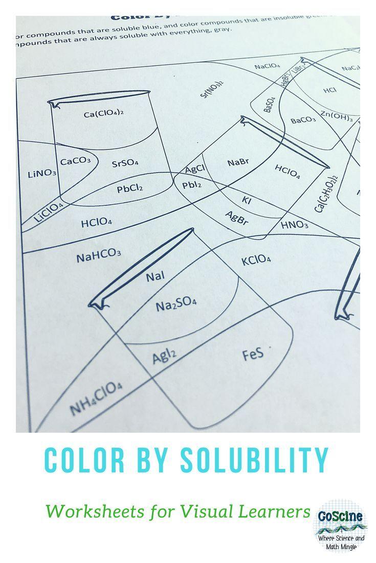Solubility Worksheet Answer Key - worksheet
