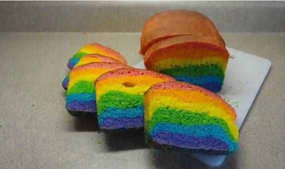 regenboog cake ;) gepind door www.hierishetfeest.com