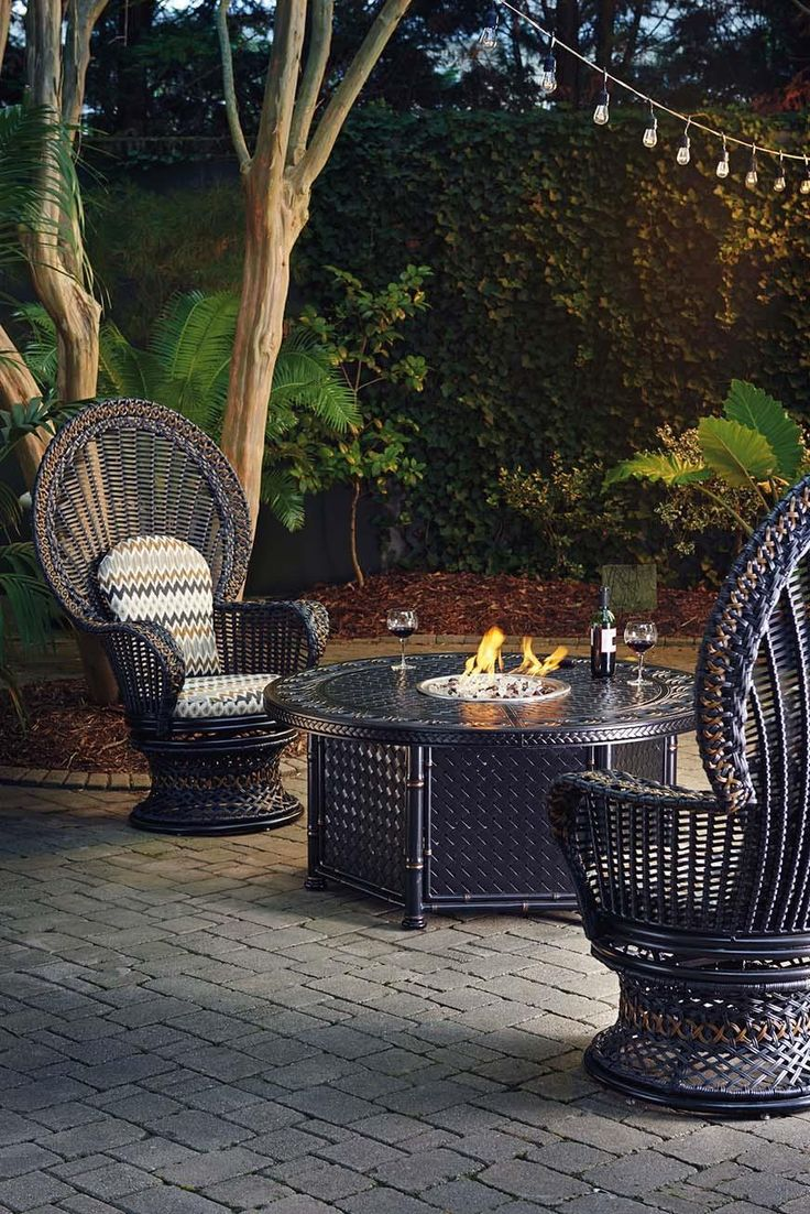 luxurypatio modern rattan tommy bahama outdoor furniture. Marimba Dual Source Fire Pit With Three-Level Flame By Tommy Bahama Outdoor Living At Baer\u0027s Furniture Luxurypatio Modern Rattan P