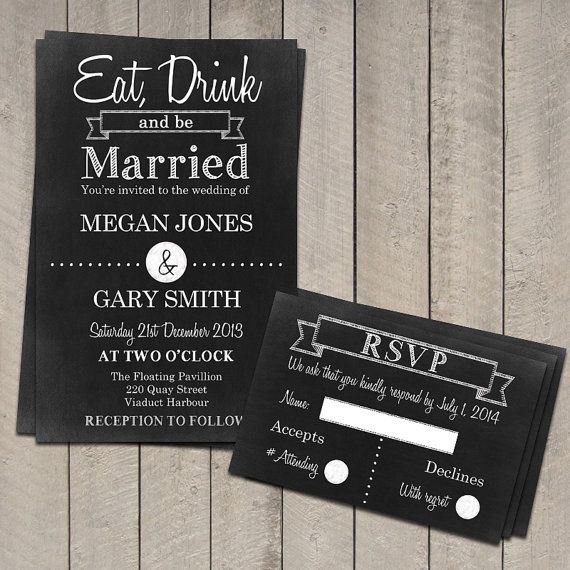 Best  Chalkboard Wedding Invitations Ideas On