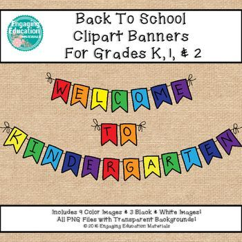 These Welcome Back to School Clipart Banners for personal and commercial use. There are 9 color images and 3 black & white images.