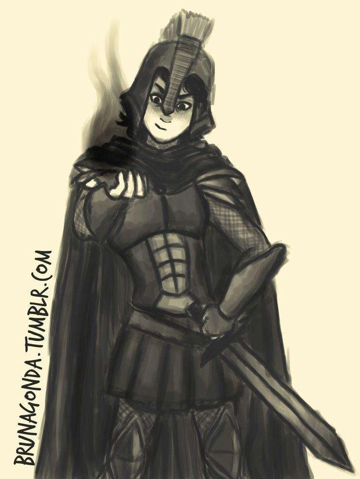 Nico Di Angelo with armor | art by BrunaGonda