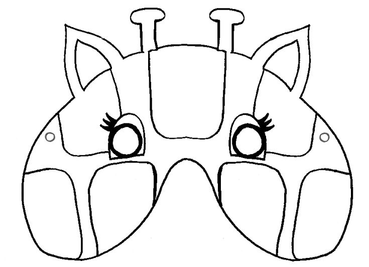 KleuterDigitaal - wb masker giraffe