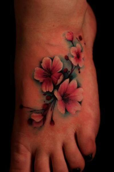 Significado De Los Tatuajes De La Flor De Cerezo O Sakura Tatuajes