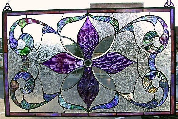Victorian Style Stained Glass.  #glass