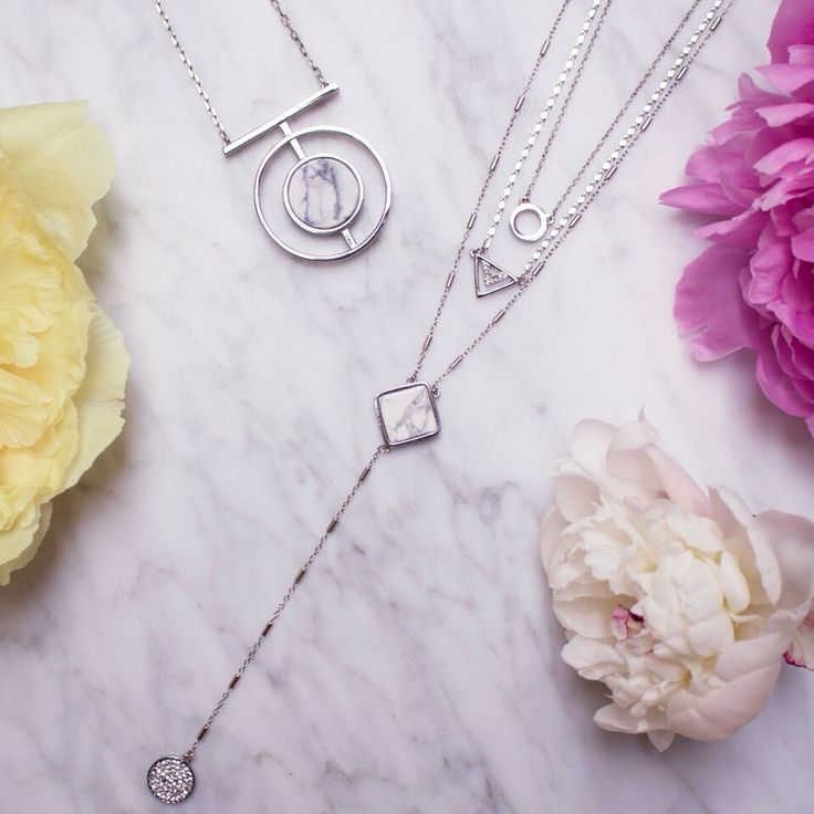 Layering necklaces… for any and all occassions.