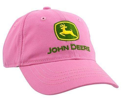 John Deere Little Girls' Trademark Baseball Cap, Pink, Toddler