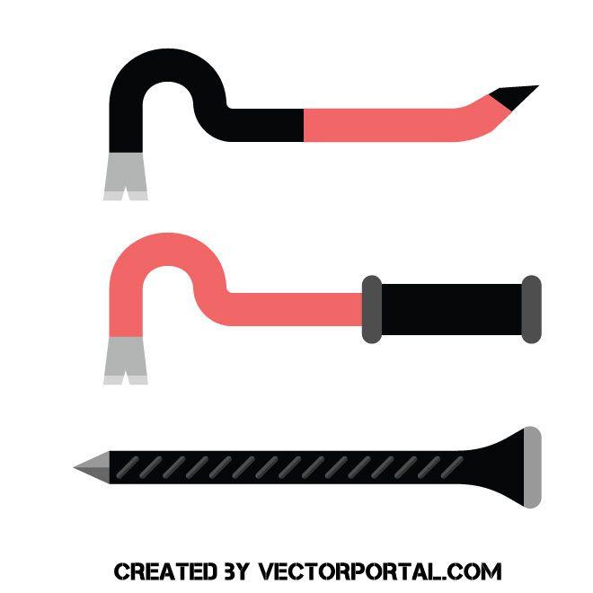 Crowbar tools vector clip art