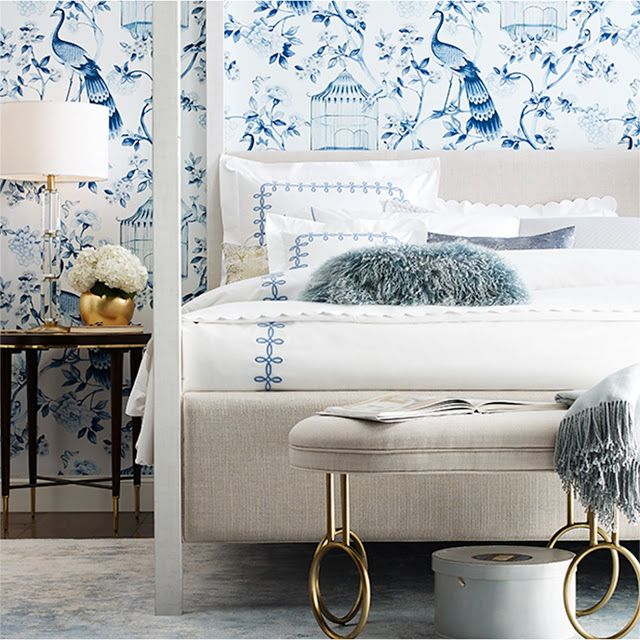 The Chinoiserie Bedroom Chinoiserie Bedroom Bedroom Wallpaper White Blue Wallpaper Bedroom Blue and white wallpaper bedroom