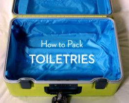 VIDEO – How To Pack Toiletries