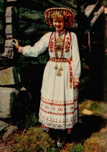Norway Bridal Costume From Telemark norway postcard