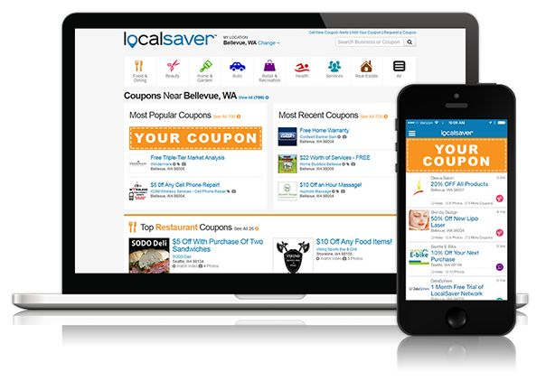 LocalSaver.com is a popular local coupon website and mobile app where consumers come to find great offers from businesses in their neighborhood. From restaurants and beauty salons to real estate agents and lawyers, LocalSaver.com is the best source for local coupons.