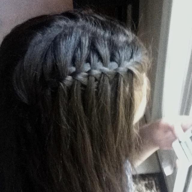 Waterfall Braid Hair Amp Beauty Pinterest Hair Style And