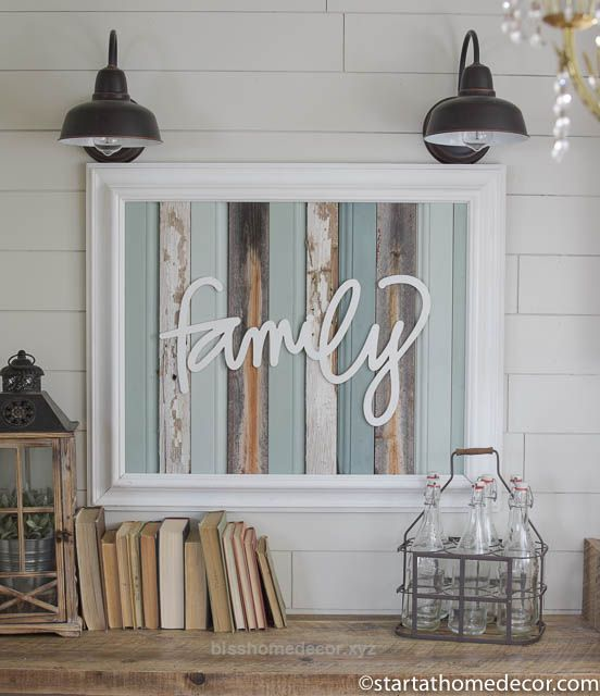 Cool Reclaimed wood turquoise family sign by start at home decor | farmhouse decor | chippy | Barn Wood  The post  Reclaimed wood turquoise family sign by start at home decor | far ..