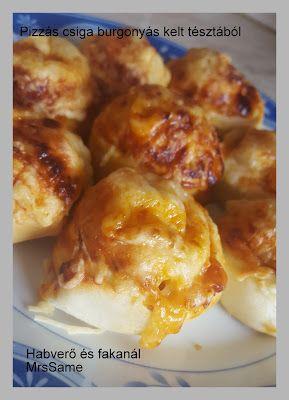 Habverő és fakanál: Bundás virsli burgonyás kelt tésztával és pizzás csiga
