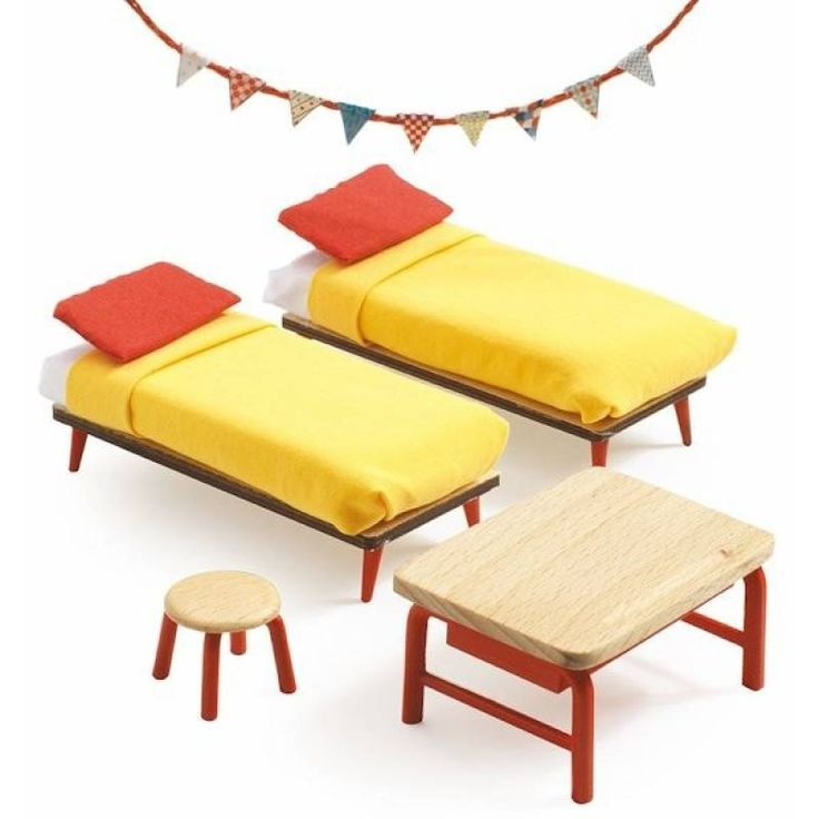 kinderslaapkamer voor poppenhuis   Speelgoed Kiki