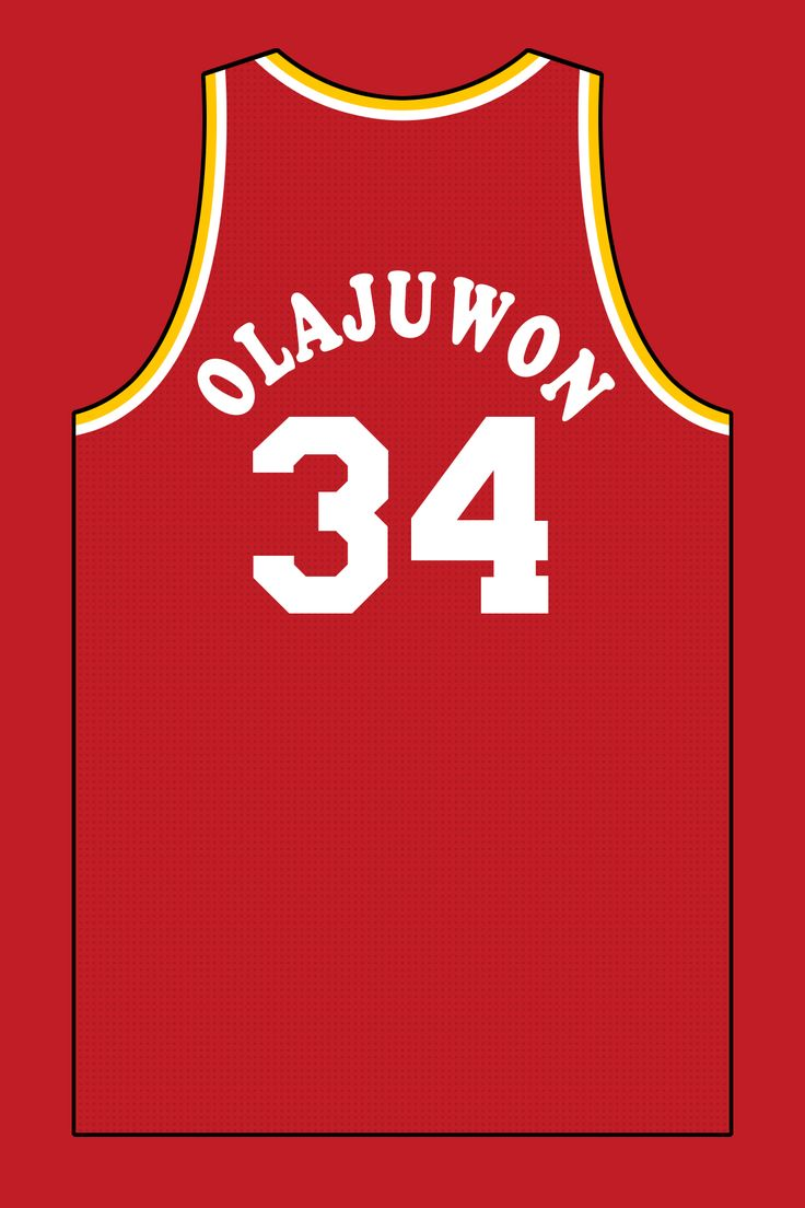Olajuwon houston rockets jersey by mutumbojr