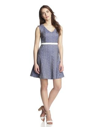 64% OFF Julia Jordan Women's Printed Fit-and-Flare Dress (Navy/White)