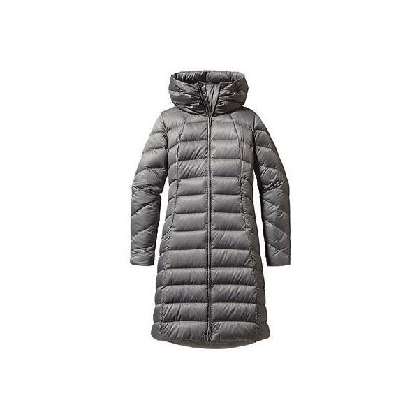 Women's Patagonia Downtown Loft Parka - Feather Grey Jackets ($379) ❤ liked on Polyvore featuring outerwear, coats, grey, patagonia coats, long grey coat, long line coat, hooded coats and patagonia parka