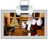 iCaughtSanta.com - upload photos of your home and place Santa in them!!!!