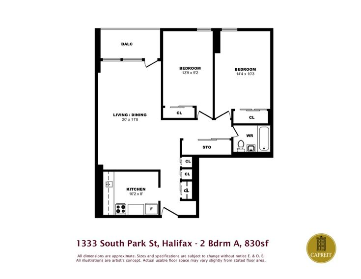 Apartments For Rent Halifax   Park Victoria Apartments   1333 South Park  Street, One Bedroom