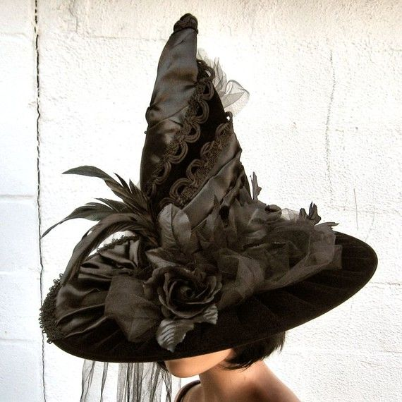 Victorian witch hat by TheBohemianGoddess (caption previous pinner, thanks)  GRS says:  I SO fancy myself in this.  Love it, wish we could wear this kind of stuff every day really