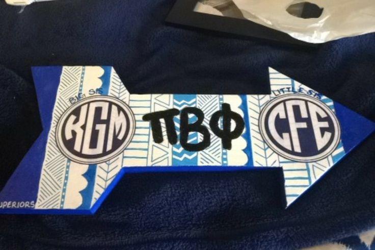 Love the monograms on this Pi Beta Phi arrow! (Tumblr submission) #piphi #pibetaphi