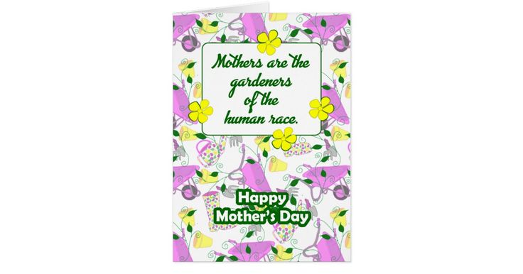 Gardening thememd Mother's day card.
