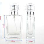 Navulbare parfumfles glas 30ml. Perfect voor natuurlijke cosmetica, eigengemaakte parfum, aftershave, geurwater. Luxe fles glas met spray verstuiver + dop.