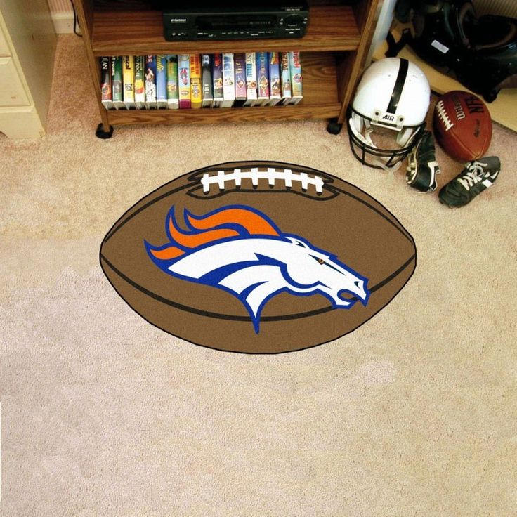 Let everyone know which pigskin team reigns supreme when guests enter your home. Put your loyalty in plain view with this Denver Broncos Football Mat by Fanmats. The nylon mat is chromojet painted in