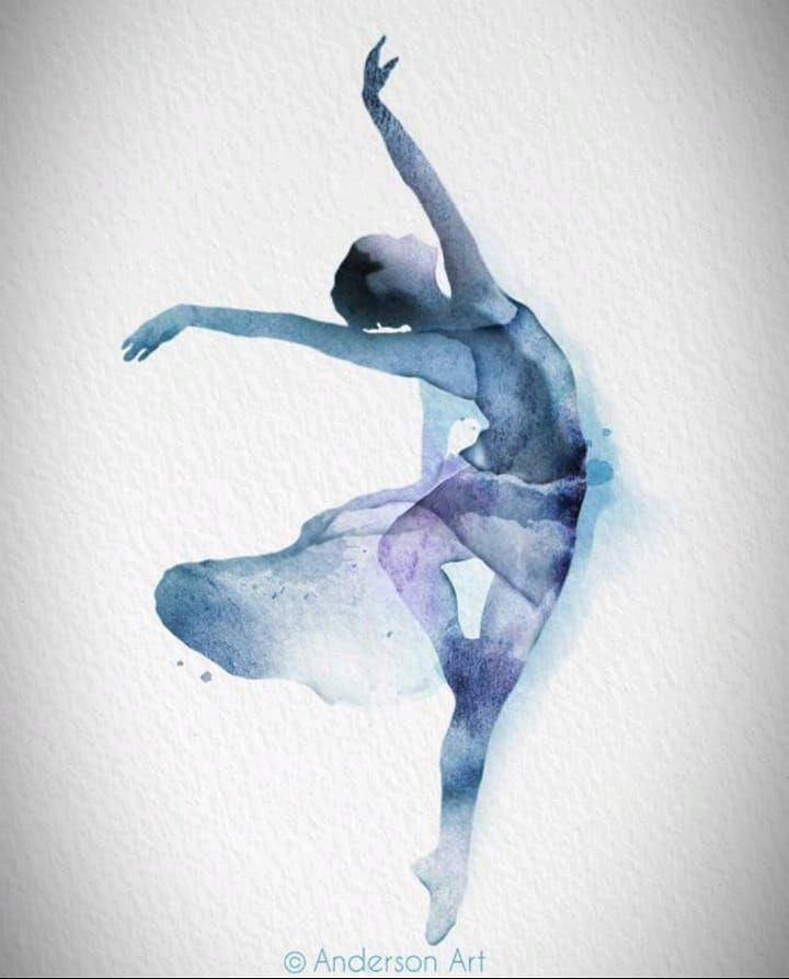 Aquarelle Ballerina Prints Disponible Watercolor Tattoo