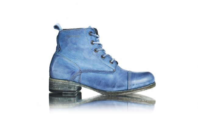Ten Points Sweden blue faded boots