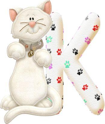 Alfabeto con gatito..K.png (349×411)