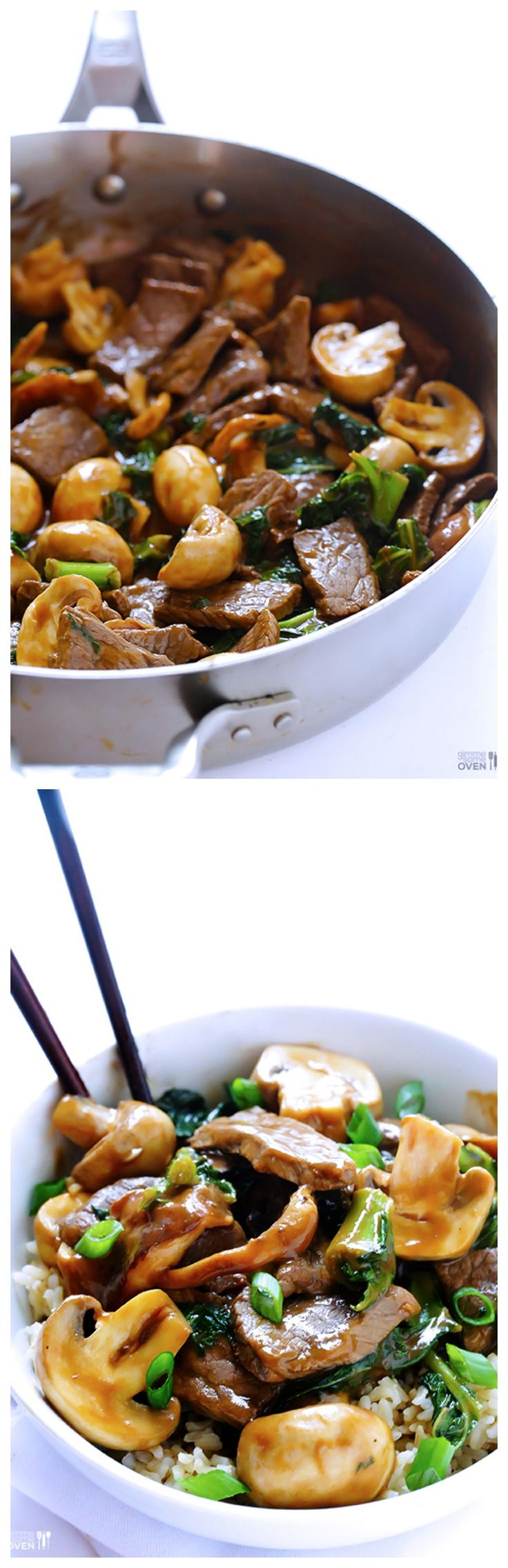 #Recipe: Ginger #Beef, Mushroom and #Kale Stir Fry