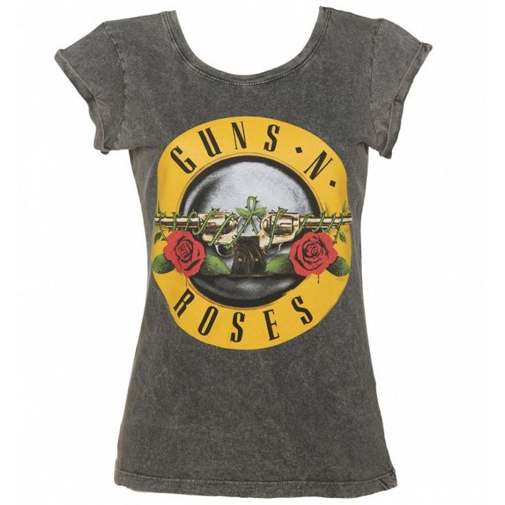 T-shirt Guns N Roses Classic Drum Logo femme à manches courtes
