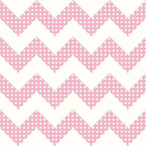 Cool Kids Snow and Bubblegum Pink Chevron Wallpaper