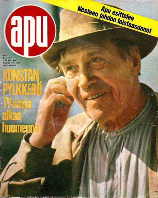 Apu 1/1971  Lauri Leino esitti Konsta Pylkköstä silloin ennen. Sarja oli 11-osainen.