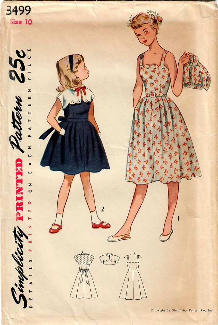 Excited to share this charmer in my #etsy shop: 1950s Simplicity 3499 Vintage Sewing Pattern Girls Sundress, Button-On Shrug Bolero Jacket Size 10 http://etsy.me/2C22vcd #supplies #sewing #girlssundress #girlsdresspattern #girlsshrugjacket #girlsshrugbolero