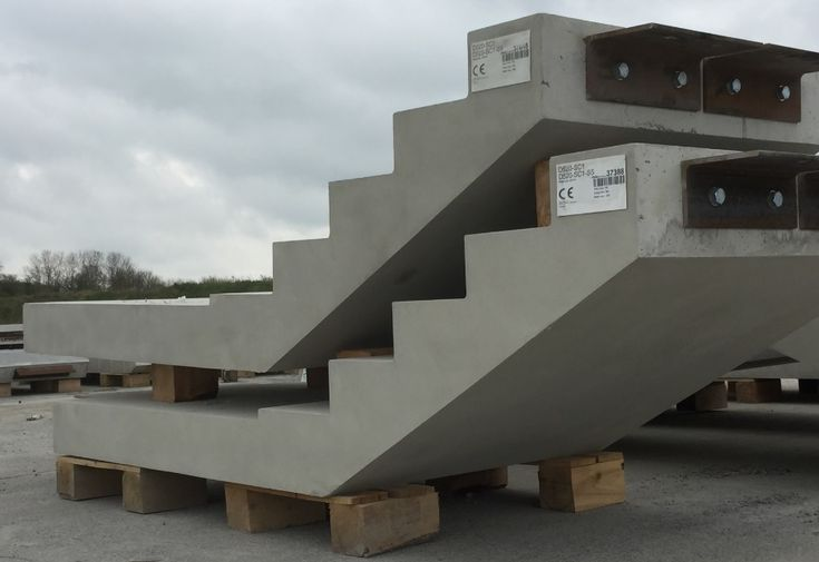 Flood Precast Concrete Stairs provided for Medical Process Facility.